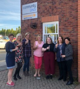 Community Lincs TED team celebrate Lincolnshire Live Business Award nominations